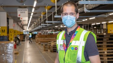 Carlos, the Site Leader at Amazon in Tilbury